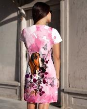 Basset Hound Love Garden All-over Dress aos-dress-back-lifestyle-1