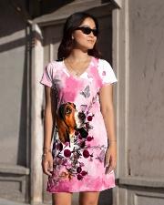Basset Hound Love Garden All-over Dress aos-dress-front-lifestyle-1