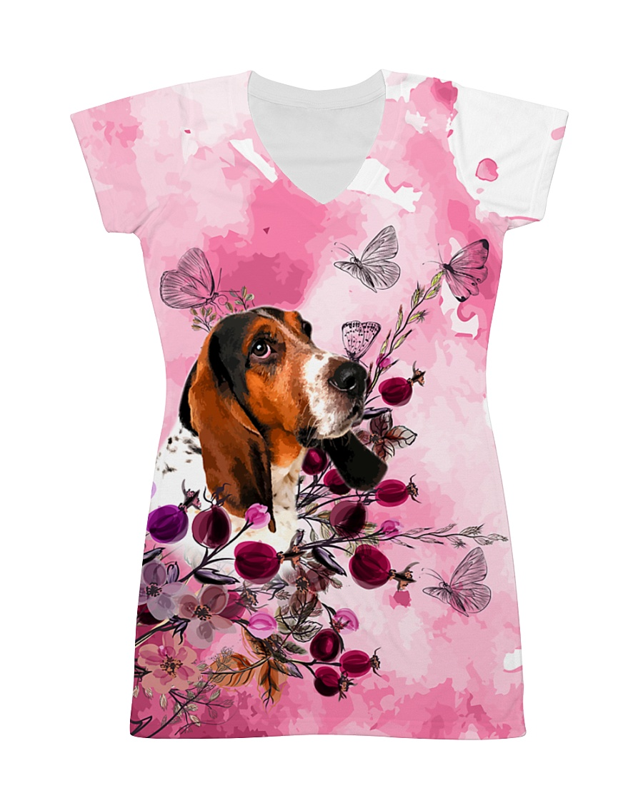 Basset Hound Love Garden All-over Dress