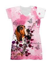 Basset Hound Love Garden All-over Dress front