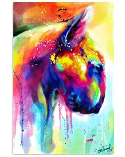 Bull Terrier Poster Water Color  11x17 Poster front