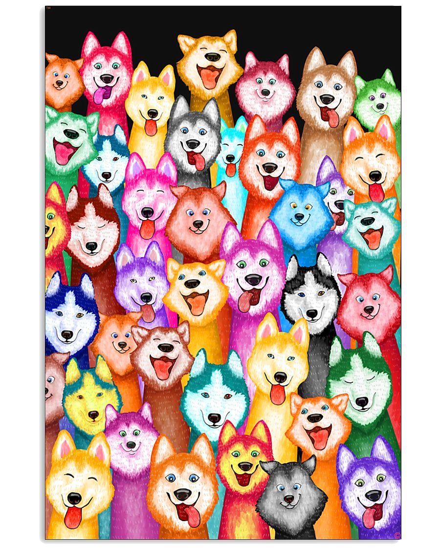 Husky Multi-Dog A1234 11x17 Poster