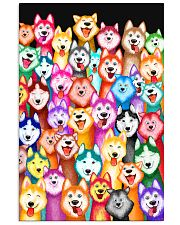 Husky Multi-Dog A1234 11x17 Poster front