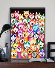 Husky Multi-Dog A1234 11x17 Poster lifestyle-poster-2