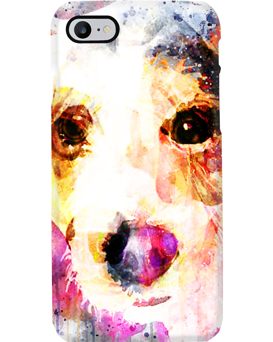Jack Russell Face Art Water Color DF67 Phone Case