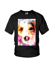 Jack Russell Face Art Water Color DF67 Youth T-Shirt thumbnail