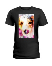 Jack Russell Face Art Water Color DF67 Ladies T-Shirt thumbnail
