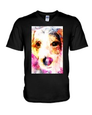Jack Russell Face Art Water Color DF67 V-Neck T-Shirt thumbnail
