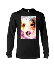 Jack Russell Face Art Water Color DF67 Long Sleeve Tee thumbnail