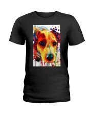 Jack Russell Water Color Art Flow A2 Ladies T-Shirt thumbnail