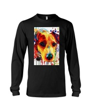 Jack Russell Water Color Art Flow A2 Long Sleeve Tee thumbnail