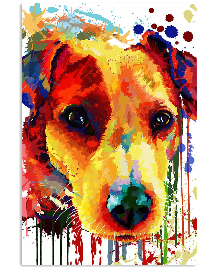 Jack Russell Water Color Art Flow A2 11x17 Poster