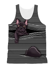 Frenchie line All-over Unisex Tank thumbnail