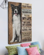 Border Collie Partner 20x30 Gallery Wrapped Canvas Prints aos-canvas-pgw-20x30-lifestyle-front-02