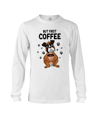 But First Coffee Boxer