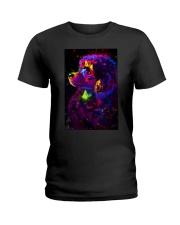Poodle Colorful Art Ladies T-Shirt thumbnail