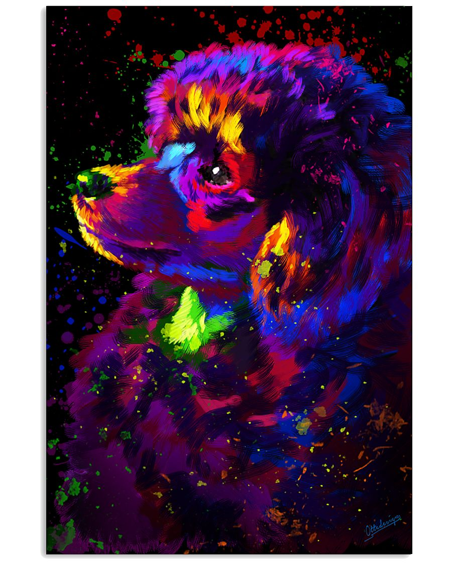 Poodle Colorful Art 16x24 Poster