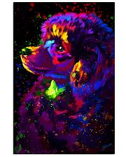 Poodle Colorful Art 16x24 Poster front