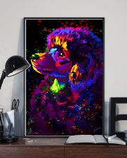 Poodle Colorful Art 16x24 Poster lifestyle-poster-2