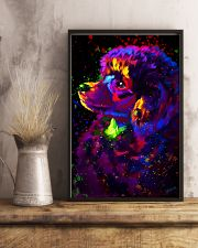 Poodle Colorful Art 16x24 Poster lifestyle-poster-3