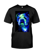 Bulldog Water Color Classic T-Shirt tile