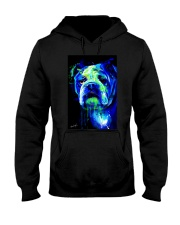 Bulldog Water Color Hooded Sweatshirt thumbnail