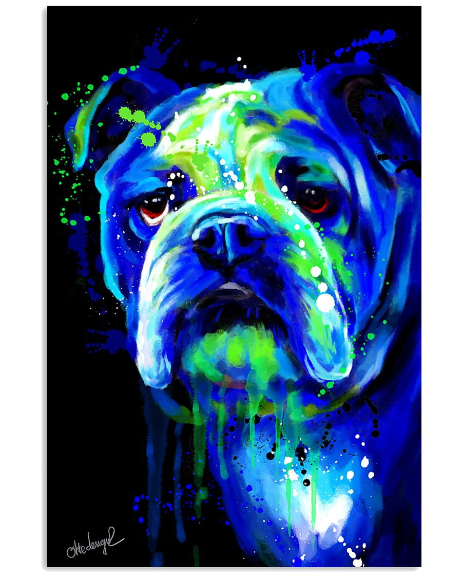 Bulldog Water Color 16x24 Poster