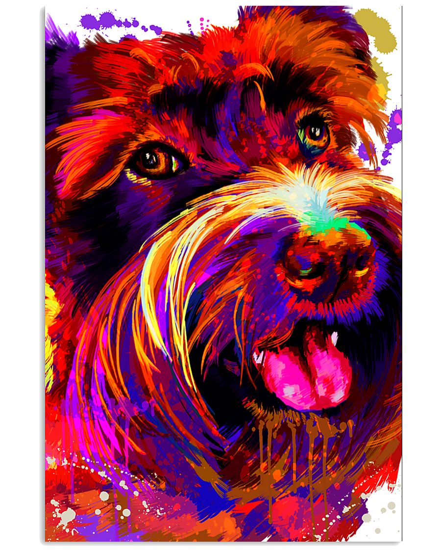 SCHNAUZER HAPPY FACE POSTER 24x36 Poster