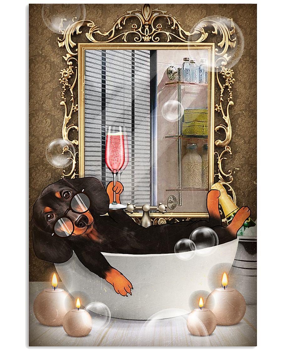 Dachshund Bath 11x17 Poster
