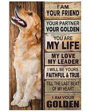 Golden Retriever Partner Vertical Poster tile