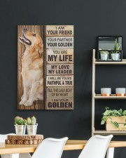 Golden Retriever Partner 20x30 Gallery Wrapped Canvas Prints aos-canvas-pgw-20x30-lifestyle-front-04