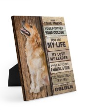 Golden Retriever Partner Easel-Back Gallery Wrapped Canvas tile