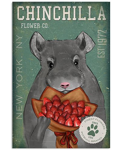 Chinchila Straweberry Poster