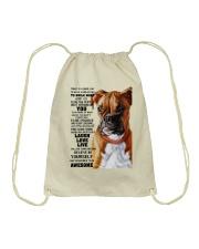 Boxer dog color Drawstring Bag thumbnail