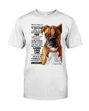 Boxer dog color Premium Fit Mens Tee thumbnail