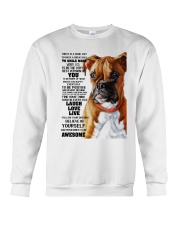 Boxer dog color Crewneck Sweatshirt thumbnail