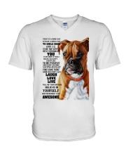 Boxer dog color V-Neck T-Shirt thumbnail