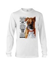 Boxer dog color Long Sleeve Tee thumbnail