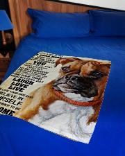 "Boxer dog color Small Fleece Blanket - 30"" x 40"" aos-coral-fleece-blanket-30x40-lifestyle-front-02"