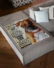 "Boxer dog color Small Fleece Blanket - 30"" x 40"" aos-coral-fleece-blanket-30x40-lifestyle-front-03"