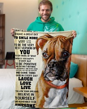 "Boxer dog color Small Fleece Blanket - 30"" x 40"" aos-coral-fleece-blanket-30x40-lifestyle-front-09"