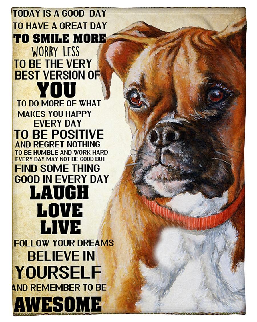 "Boxer dog color Small Fleece Blanket - 30"" x 40"""