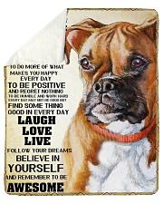 "Boxer dog color Sherpa Fleece Blanket - 50"" x 60"" thumbnail"