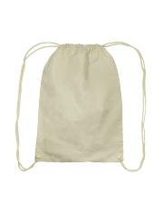 dog empty Drawstring Bag back