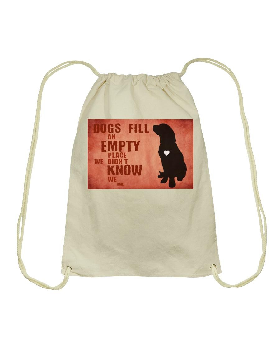 dog empty Drawstring Bag
