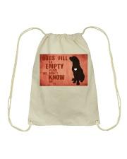 dog empty Drawstring Bag front