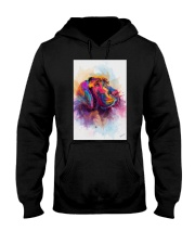 Great Dane Face Art Spotted Color Hooded Sweatshirt thumbnail
