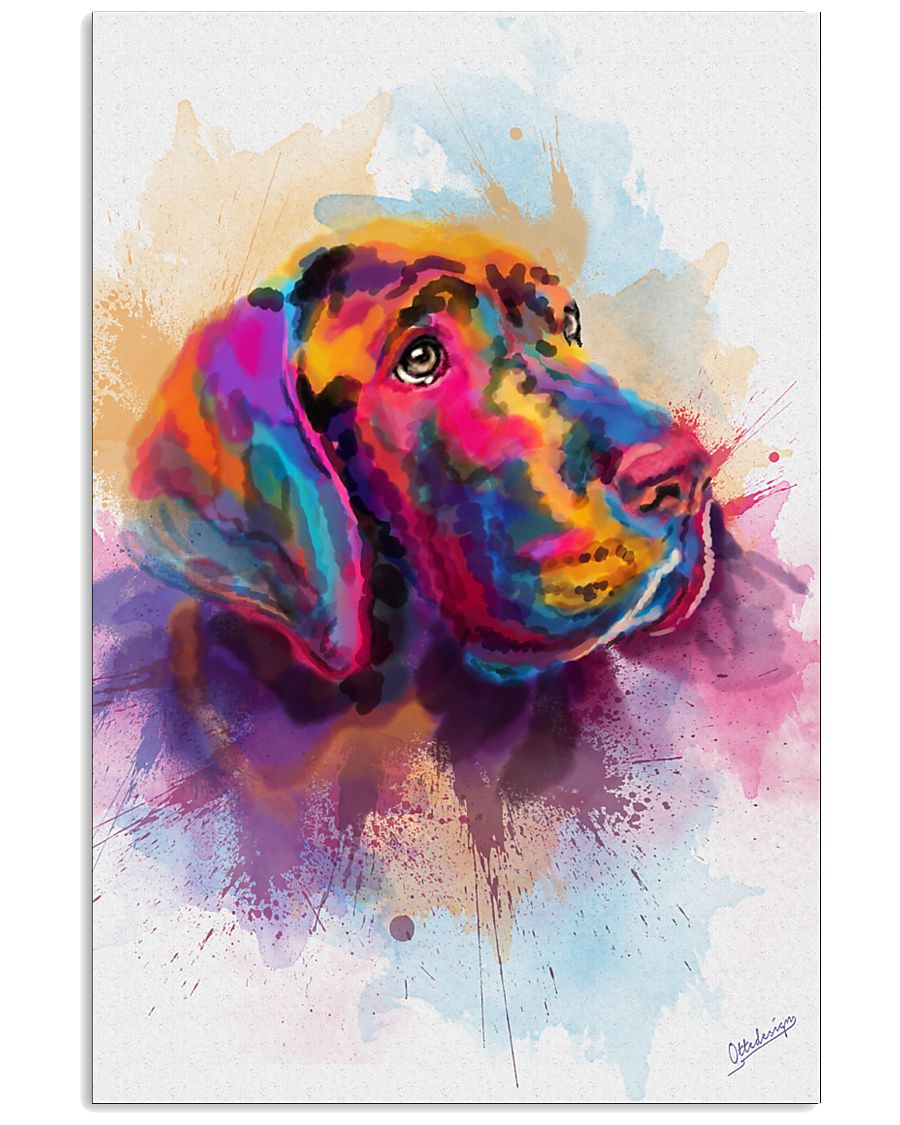 Great Dane Face Art Spotted Color 11x17 Poster