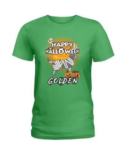 Golden Retriever Happy Halloween