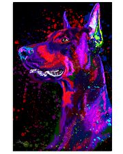Doberman Water Color  11x17 Poster front